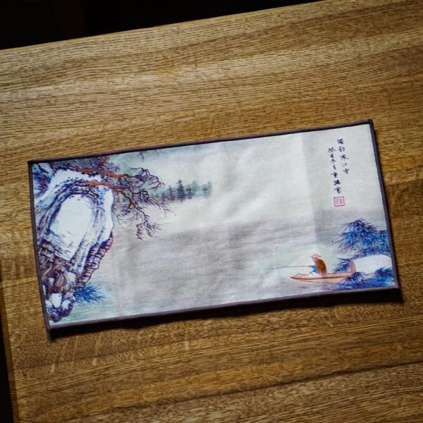 Чайное полотенце «Рыбак» 28×28 см фото