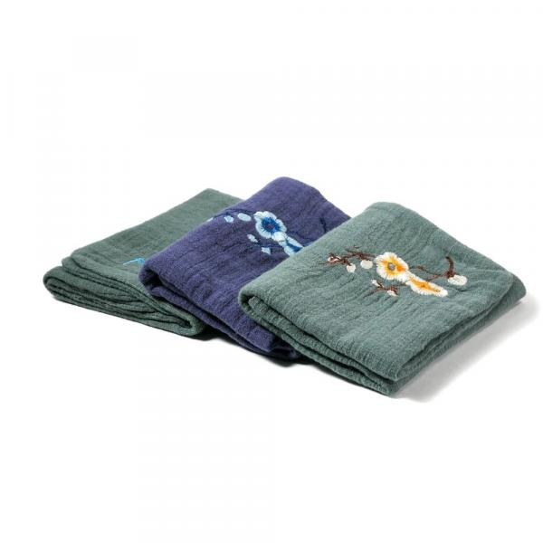 Чайное полотенце «Зеленая камелия» 28х28см