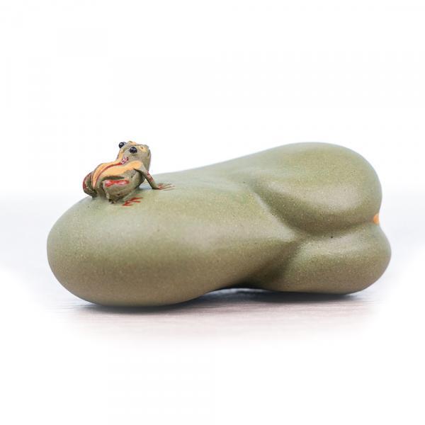 Чайная фигурка «Лягуха и боб» 4 см фото