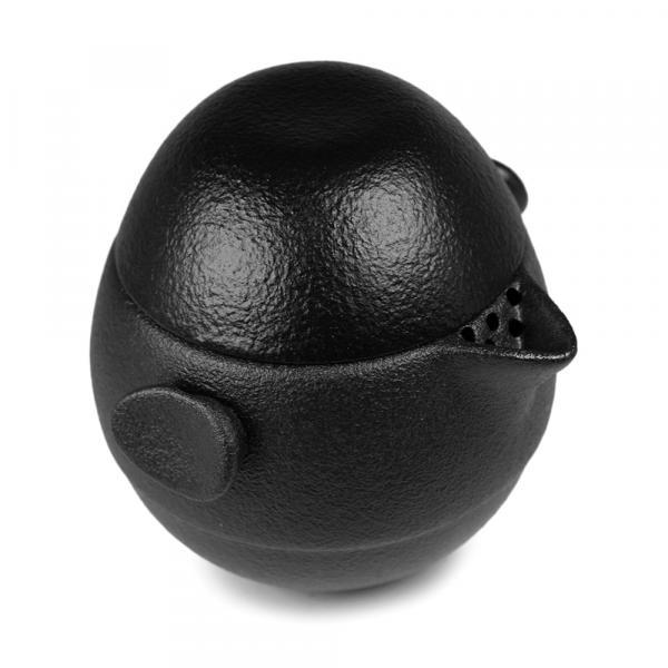 Походный чайный набор «Яйцо дракона» 4 предмета (чёрный) фото