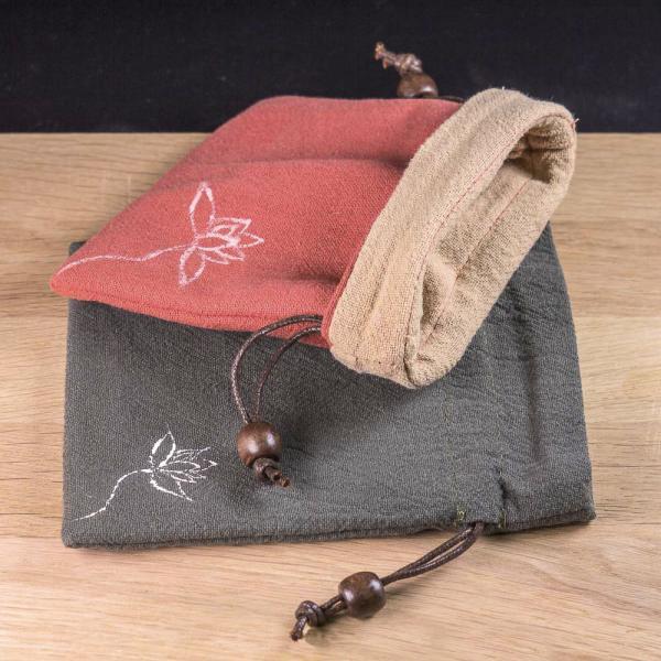 Мешочек для чая и чайной утвари «Изящный Лотос» 14х11 см фото