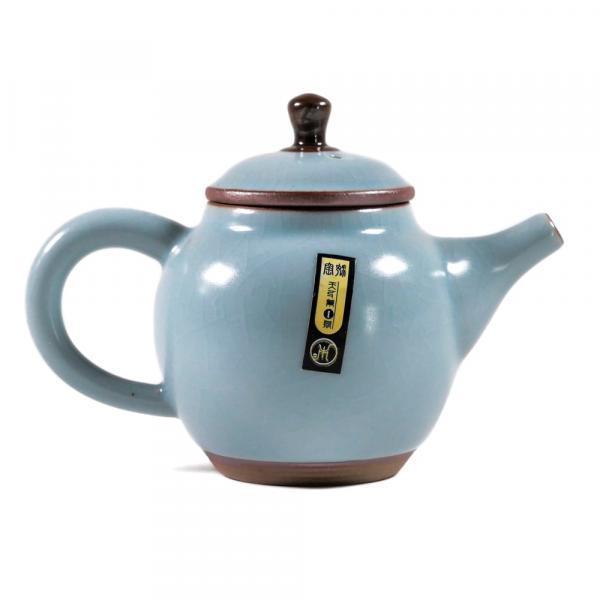 Заварочный чайник «Синева» кракелюр керамика 105 мл фото