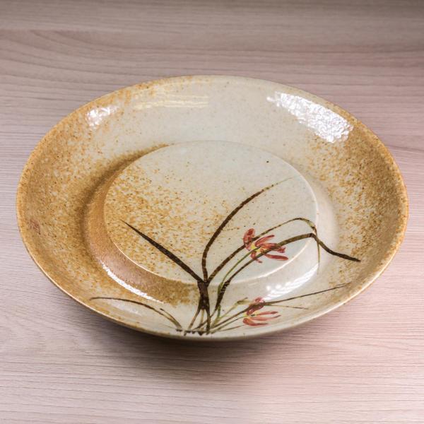 Чайный пруд «Цветущие лилии» керамика 17 см (ручная роспись) фото