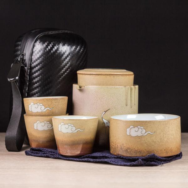 Походный чайный набор «Летящий аист» (6 предметов) фото