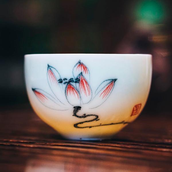 Пиала «Цветок лотоса» фарфор 50 мл фото