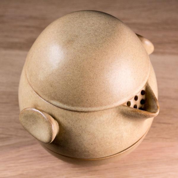 Походный чайный набор «Яйцо дракона» 4предмета (охра)