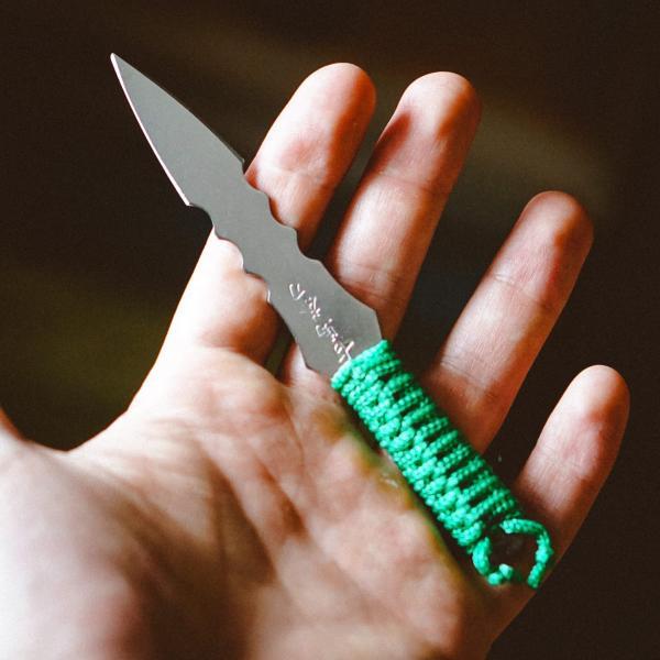 Шило (нож) для пуэра «Кунай» зеленый 14 см фото