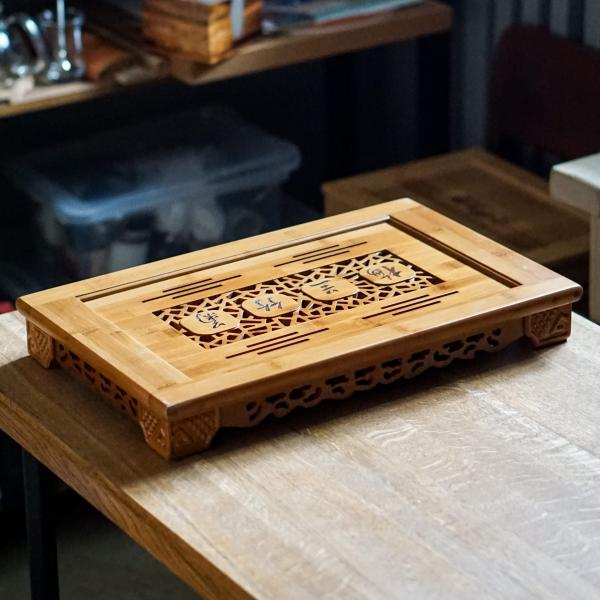 Чайная доска (чабань) «20» бамбук 31×49 см фото