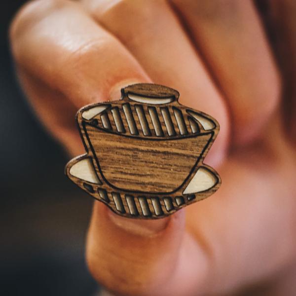 Авторские фирменные значки-пины чайной тематики от Чайной мастерской фото