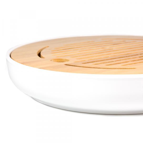 Чайная доска (чабань) «Белый круг» меламин 25 см фото
