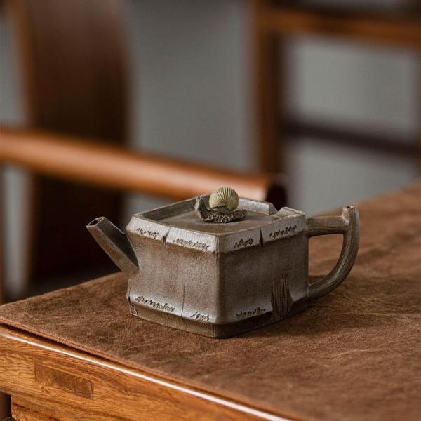 Исинский чайник «Бамбук и улитка» 140 мл фото