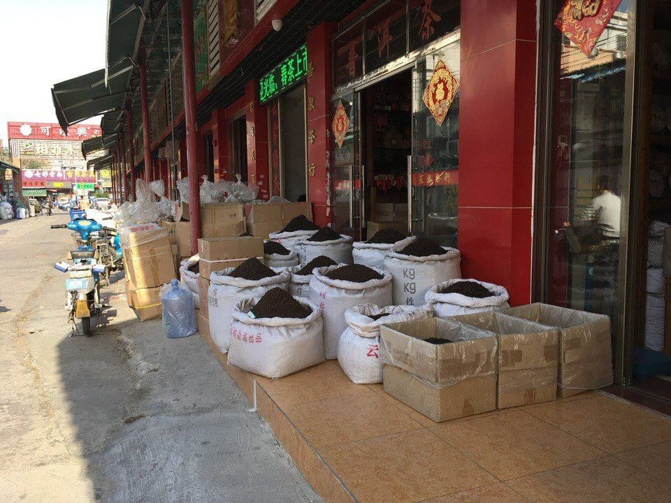 Чай базар Китай фото
